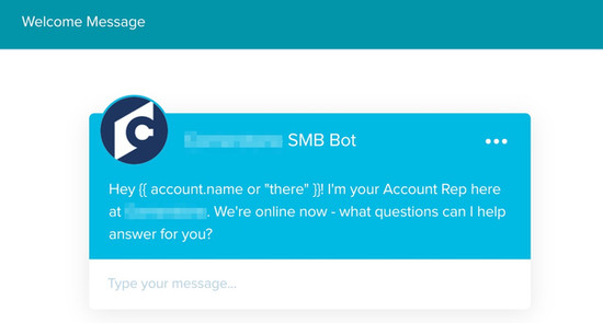 Drift Chatbot - Welcome Message