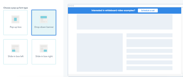 Drop Down Banner Example