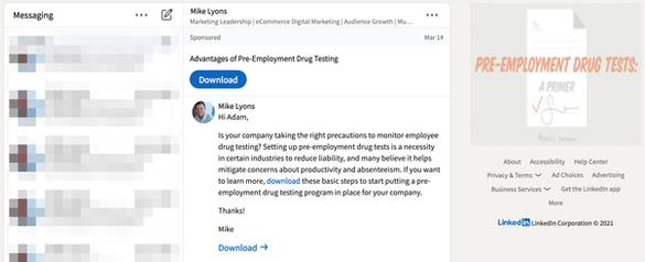 Pharma LinkedIn InMail 2