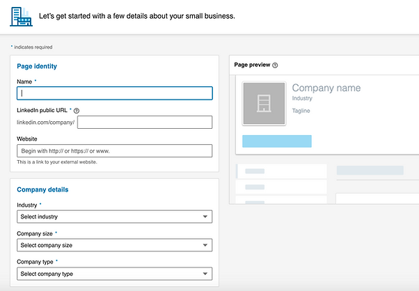 Linkedin campaign builder screenshot example