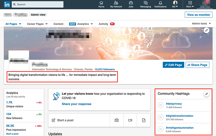 Tips for optimizing your LinkedIn company page