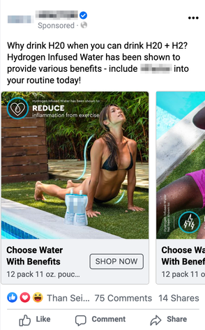 Facebook Sponsored Content - Mobile Carousel Ad