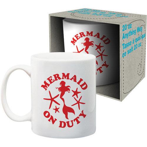 Mermaid On Duty 20 Oz Mug Mysite