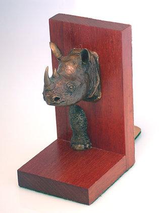 Black Rhino Bookends
