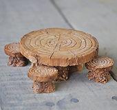 Woodland fairy table & stool set