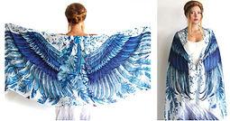 Shovava blue wings scarf