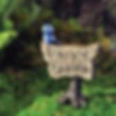 Fairy Garden Blue Bird sign
