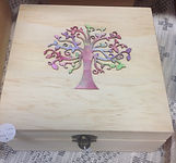Tree of Life wooden oil box
