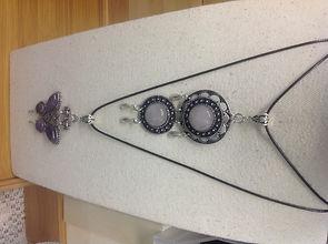 Handmade Amethyst & Rose Quartz jewellry