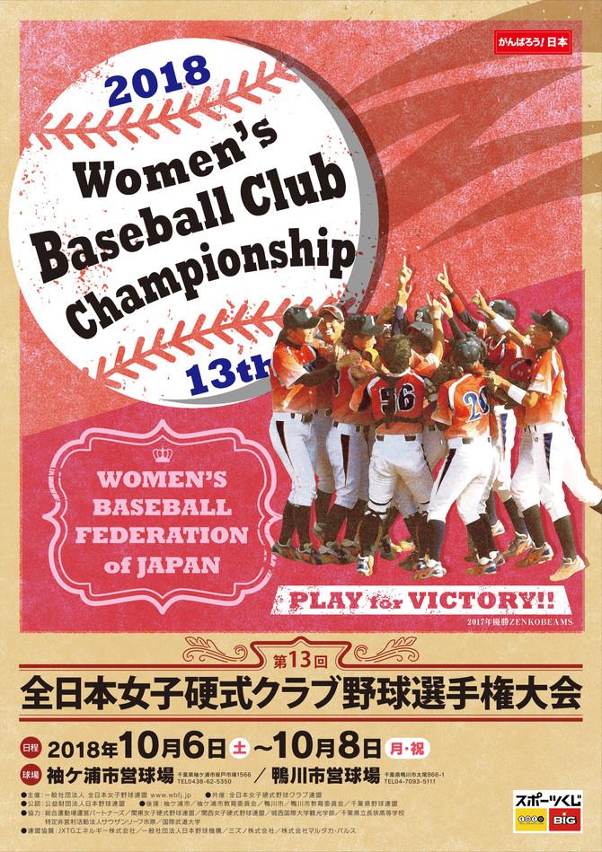 第13回全日本女子硬式クラブ野球選手権大会について