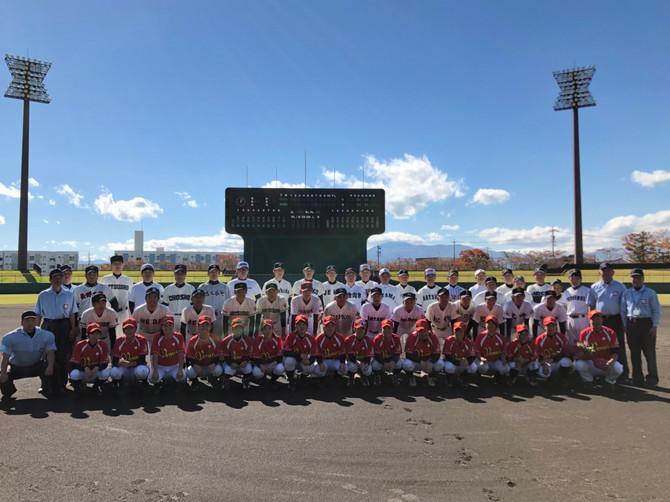 長野県交流イベント 招待試合・少女野球教室