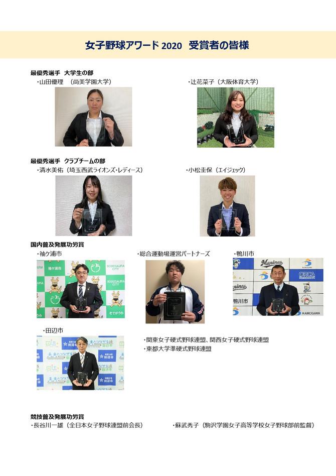 女子野球アワード2020 受賞者発表!!