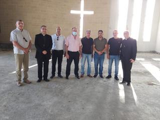 Besuch des Buergermeisters Arkady von Maalot-Tarshiha und von Herrn Yazid Farraj vom Innenministeriu
