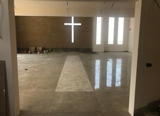 Fliesen der Kirchenräume Paving the Church floor