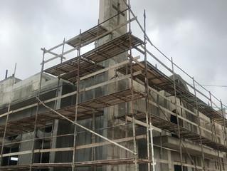 Neue Bauphase: Aussenfassade New period : Plastering and Stone works