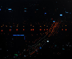 a night in seoul 7  mixed media on canva