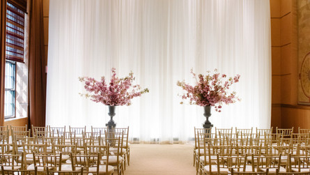 These Indoor Ceremony Backdrops Will Make You Pray for Rain