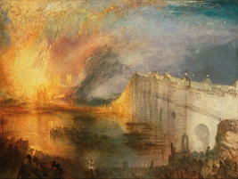 The Burning of the Houses of Lords and Commons (1834) by JMW Turner.