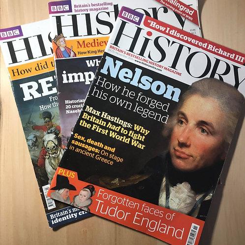 BBC History Magazine Nov, 2013 March, 2012, Feb 2013