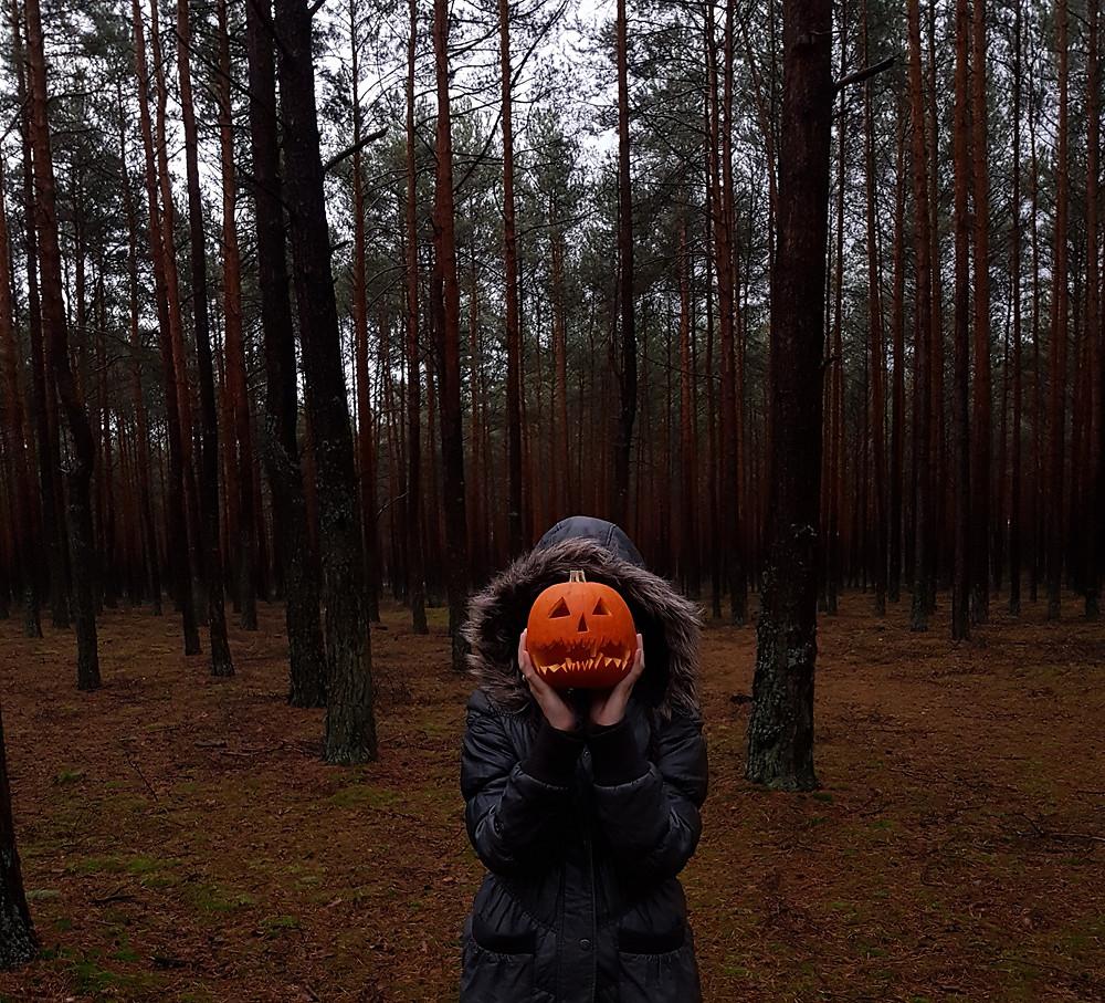halloween in the woods