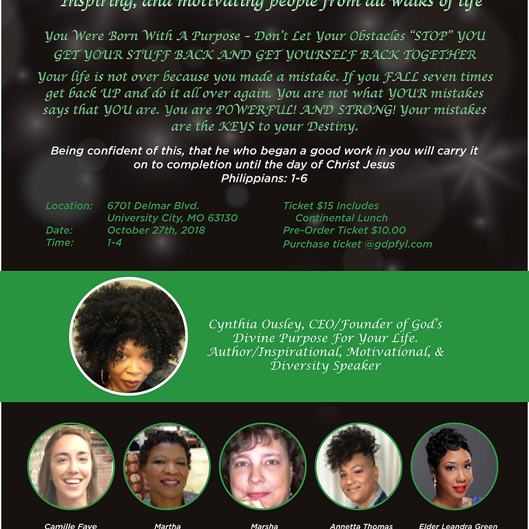 You Were Born With  A Purpose: Fundraiser Event!
