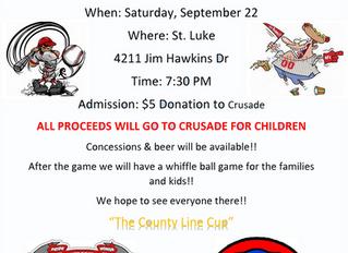 Crusade for Children Softball Game