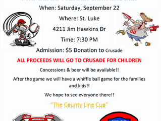 Crusade for Children Softball Game