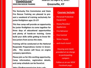 JR Fire Camp March 31-April 2, 2017