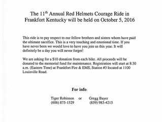 11th Annual Red Helmets Courage Ride