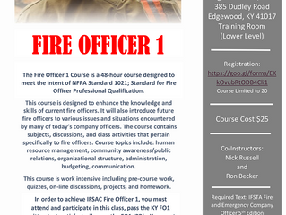 Fire Officer 1