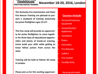 Junior Firefighter Camp