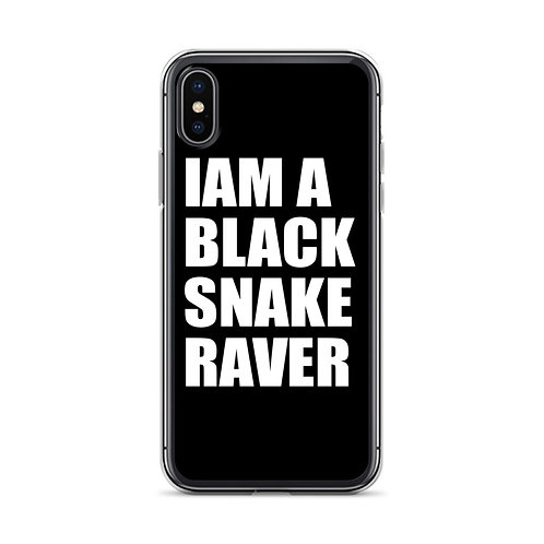 "iPhone Case ""Iam a Black Snake Raver"""
