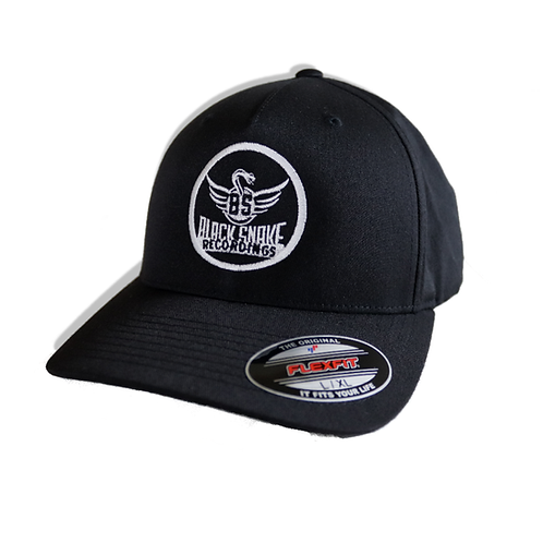 Flexfit Fitted Cap Classic curved with Black Snake Logo / Black