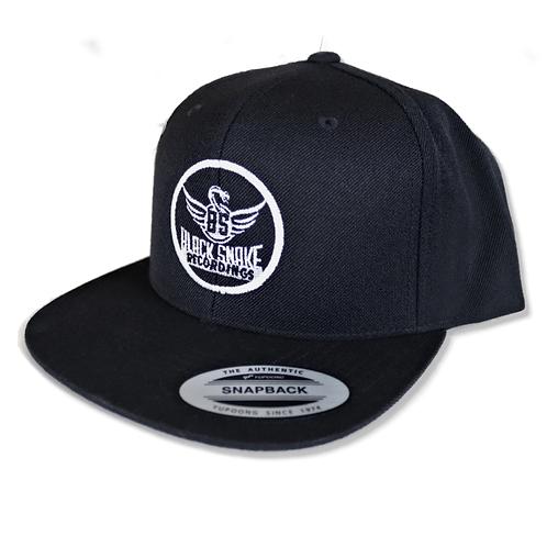 Flexfit Snapback Cap Classic with Black Snake Logo / Black
