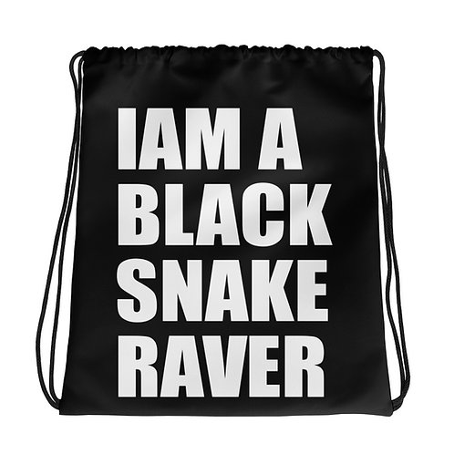 "Bag ""Iam a Black Snake Raver"" black"