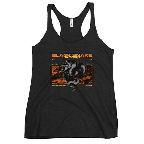 Woman Racerback Tank-Top / Vintage Design / Black