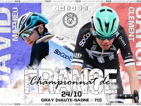 Deux représentants du SCO Cyclisme Angers aux Championnats de France de l'Avenir.