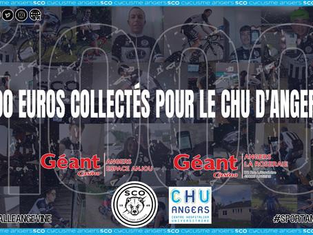 1000€ collectés pour le CHU d'Angers