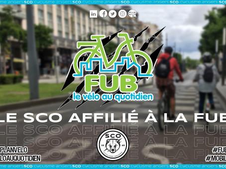 Le SCO Cyclisme Angers adhère au réseau de la Fédération des Usagers de la Bicyclette.