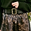 Thumbnail: Jupe midi python noir doré Carla