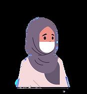arab-woman-wearing-face-mask-environment