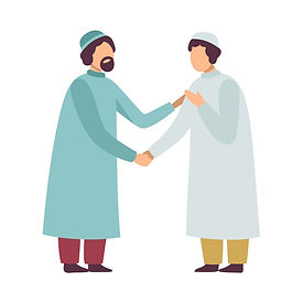 muslim-men-in-traditional-clothing-greet