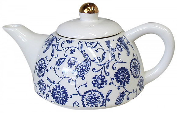 Teapot Indian Blue