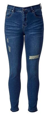 Vassalli - Skinny Leg Angle Grazer Jean - Denim Blue
