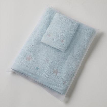 Aqua Hooded Towel And Washer