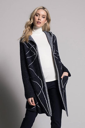 Picadilly  Long Sleeve Hooded Jacket - Navy