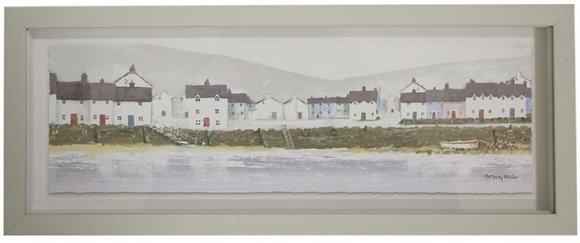 Framed Print Beach Cottages