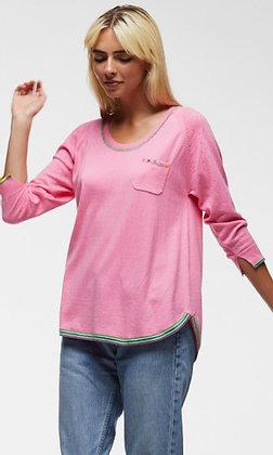 Zacket & Plover Embroidered Pullover Bubblegum