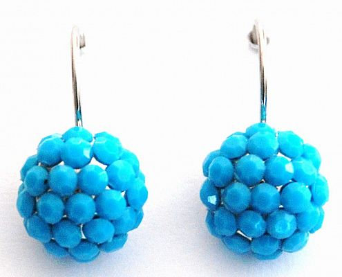 I'm Gorgeous Crystal Drop Earrings Turquoise