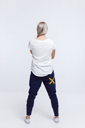 Home-leeApartment Pant Evening Blue/Yellow X